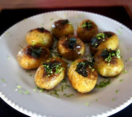 Receitas de Natal - Batata Sautée na Manteiga Clarificada de Sálvia